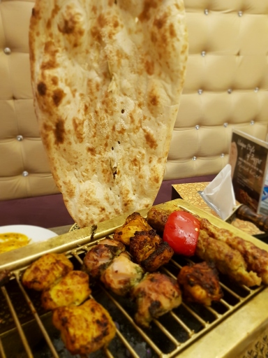 Our huge naan and meat feast